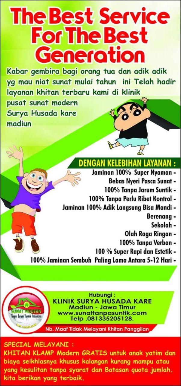 Klinik surya Husada sunat modern tanpa jarum suntik Indonesia