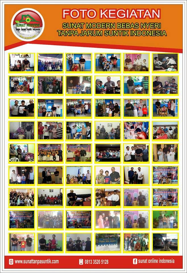 berikut sebagian kecil foto album dari puluhan ribu kegiatan pelayanan sunat kami sejak tahun 2001